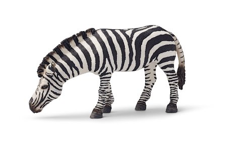 Schleich Grazing Zebra Toy Figure