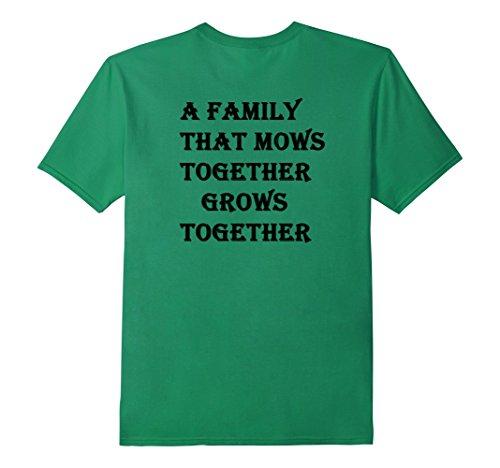 Men's Back Lawn Mower Racing Family T-shirt XL Kelly Green