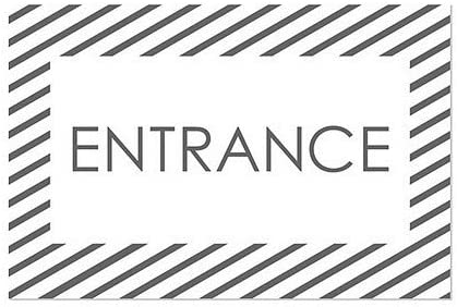 CGSignLab Entrance Stripes White Window Cling 5-Pack 18x12
