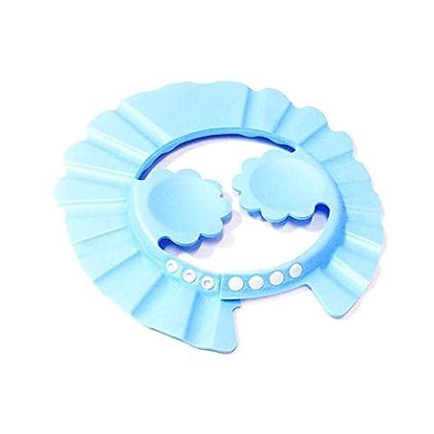 4Pcs Rubber Yellow Duck Floating Bath Tub Toy Baby Kids Bathing Shower Cap Hat(blue)