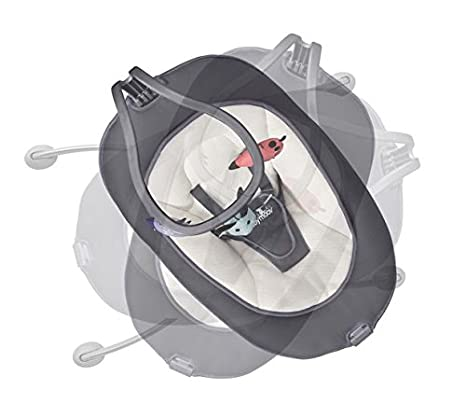 Height Adjustable Bouncer with 360 Degree Rotation Ergonomic Zinc - Foldable Babymoov Swoon Up Bouncer