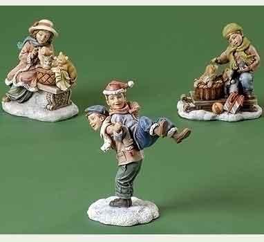 5 Inch Village Children Figurines By Joseph Studio 37015