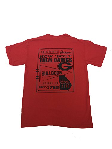 Georgia Bulldogs Pennant Comfort Color T-Shirt-Red-Small