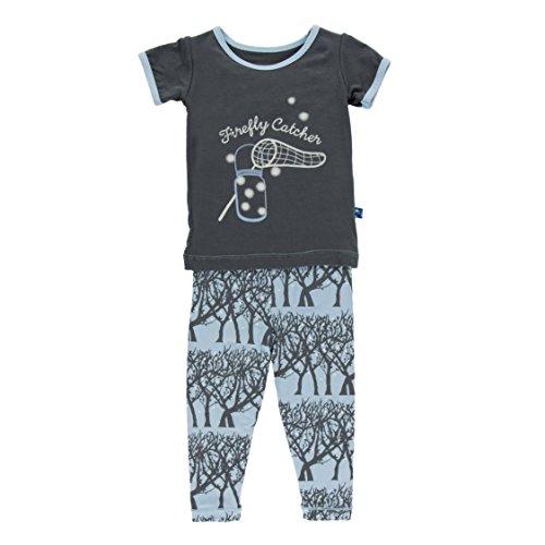 Kickee Pants Big Boys' Print Short Sleeve Pajama Set In Pond Fireflies, -
