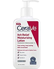 CeraVe Moisturizing Lotion for Itch Relief   8 Ounce   Dry Skin Itch Relief Lotion with Pramoxine Hydrochloride   Fragrance Free (Pack of 2)