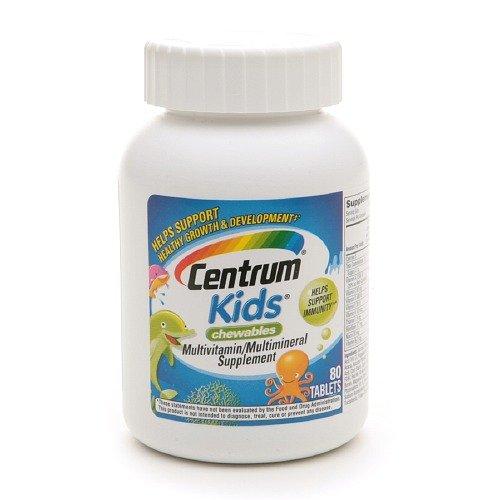 Centrum Kids Chewables Multivitamin, Tablets 80 ea Pack of 2