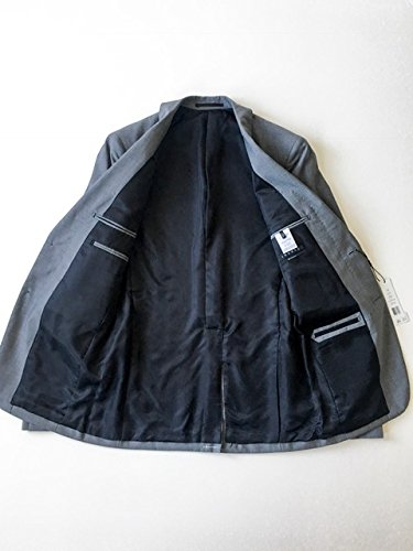 (Theory Men Slim Fit Wool Two Button Notch Lapel Sportcoat Blazer, Light Grey, 36R)