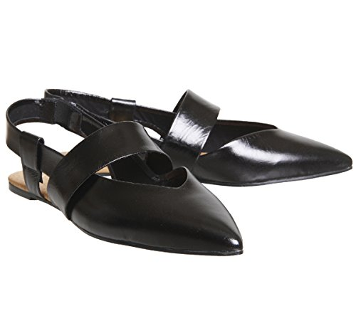 Office Fashion Point Flats Black Leather 1nRo0f