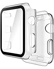 Simpeak 2-Piece Case Compatible with Apple Watch 38mm Series 3/2/1 [2 Pcs], Protective Cover Full Cover Electroplating Glossy PC Case Compatible for iWatch 38mm - Transparent
