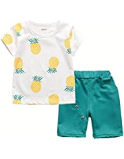 d778d3e09afa Toddler Baby Boy Girl Summer Clothes Sets Casual Shirts & Shorts Outfits