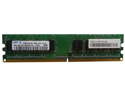 (Samsung 512MB DDR2 PC2-4200U 533MHz 1Rx8 M378T6553CZ0-CD5)