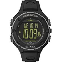 Timex Expedition Shock Resist XL Vibrating Alarm Watch - Black