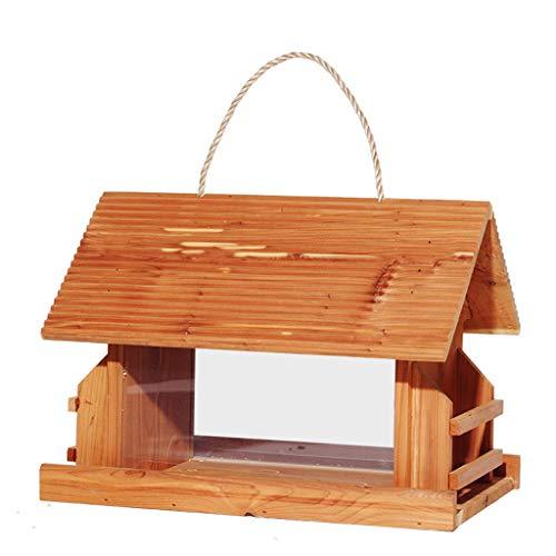 NYDZDM Bird Feeding Station Hanging Wild Bird Table, Feeder Wooden with Seed,Bread and Fruit Feeder