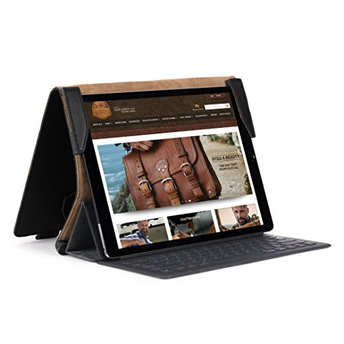 Saddleback Leather Apple iPad Pro Case - 100% Full Grain Leather Protective Cover / Stand For 10.5'' and 12.9'' iPad Pro Models - 100 Year Warranty by Saddleback Leather Co.
