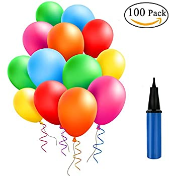 amazon com latex balloons 10 inches assorted color party balloons
