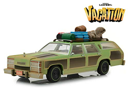 New DIECAST Toys CAR Greenlight 1:18 Artisan Collection - National Lampoon's Vacation - 1979 Family TRUCKSTER Wagon Queen with Aunt EDNA 19048