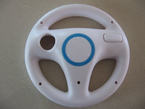 Racing Steering Driving Wheel for Nintendo Wii Nascar Kart Cart Racing Video ...
