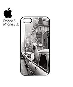 LLama Lama in the Car Mobile Cell Phone Case Cover iPhone 5&5s Black
