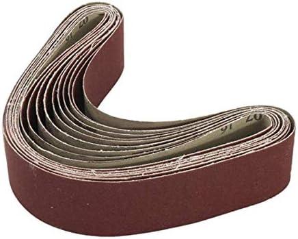 Asdomo Lot de 10 bandes abrasives pour ponceuse Grain 60//120//150//240 40 x 680 mm