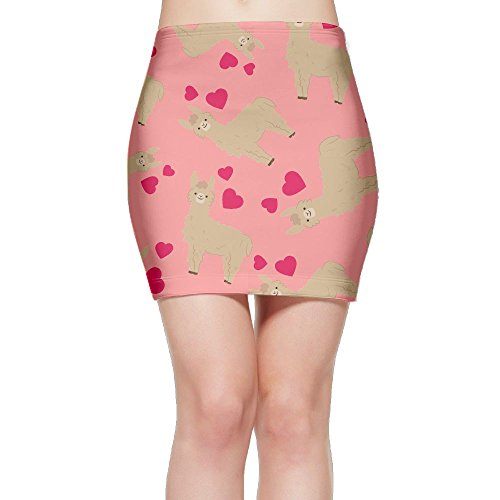 SKIRTS WWE Cute-Llamas Women Sexy High Waist Mini Short Skirts by SKIRTS WWE