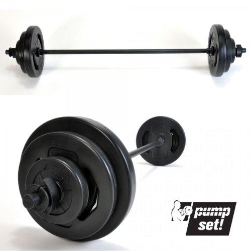 pumpset! 19 kg fitness gewichten lange halter set halterset uithoudingsvermogen krachttraining