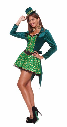 Sexy Leprechaun Costume, Green, Small