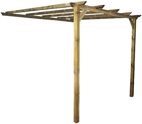 Pergola de Pared de Madera impregnada Almada 3 MT x 2,8 MT – Porche cenador