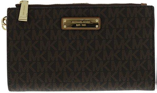 cec5dd9c4f5a Michael Kors Women's Adele Logo Smartphone Leather Wristlet - Buy ...