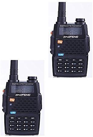 Baofeng UV-5R 4ª generación negro Caballero 136 – 174/400 – 520 MHz Radio de dos vías profesional FM Transceptor (Pack de 2): Amazon.es: Electrónica