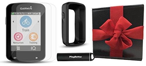 [해외]PlayBetter 실리콘 보호 케이스, HD 유리 스크린 보호기 (2 팩), 휴대용 충전기, 자전거 마운트가있는 Garmin Edge 820 선물 상자 번들 | /Garmin Edge 820 Gift Box Bundle with PlayBetter Silicone Protective Case, HD Glass Screen Protectors ...
