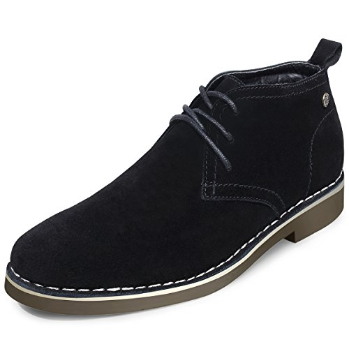 Mens Black Suede Boot - SEMANS Men's Suede Chukka Boot Casual Lace up Desert Boot Ankle Shoes Stylish Fashion Fit Comfortable Leather Shoes Black 13 D (M) US