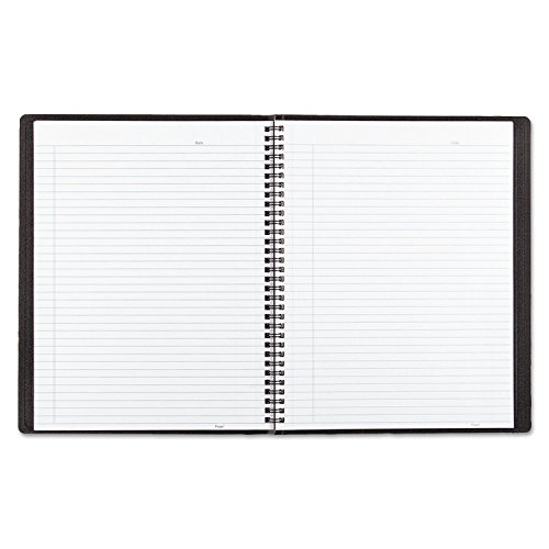 Blueline B4181 Poly Cover Notebook 8 1/2 x 11 Ruled Twin Wire Bound Black Cover 80 Sheets by Rediform (Image #1)