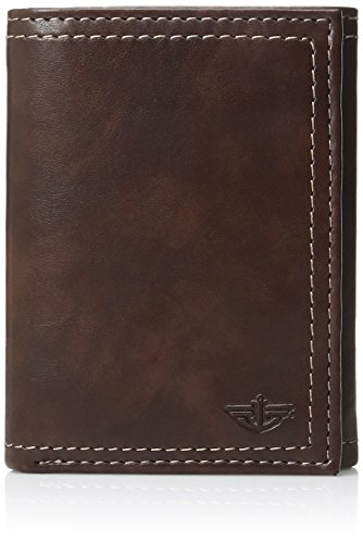 Dockers  Men's  Extra Capacity Trifold Wallet,Brown