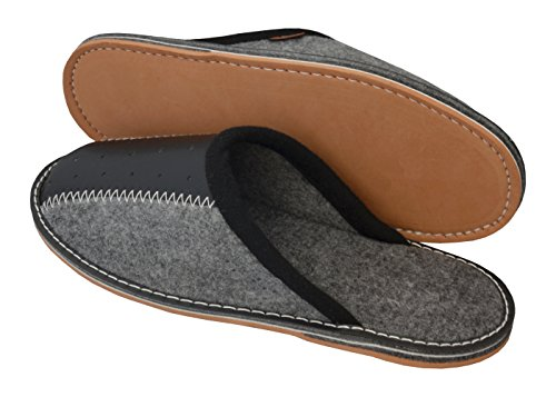 de 40 Caja Caseros Hombre Pantuflas Fieltro Goma BeComfy 46 Zapatos Zapatillas de Fieltro Goma Suela Regalo Fms04 Casa 7xwR68q