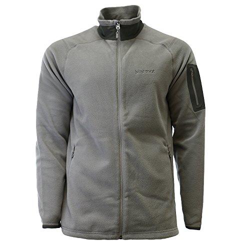 Marmot Reactor Full-Zip Fleece Jacket - Men's Cinder, - Fleece Marmot Mens