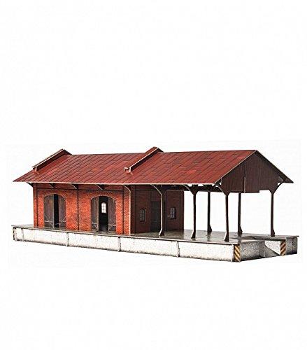 - KERANOVA 382 Clever Paper Railway Collection Buildings Warehouse 3D Puzzle, 1/87 Scale, Multi Colour