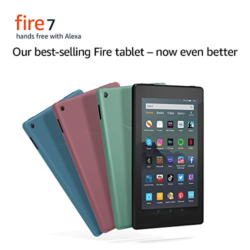All-new Fire 7 Tablet | 7″ display, 16 GB, Black with Special Offers