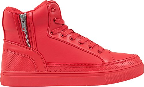 Shoe Fire Zipper Alte Top Adulto Red 697 Sneaker Urban Classics Unisex Rot High ZURIIq
