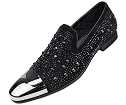 Faux Velvet Slip on with Matching Rhinestones