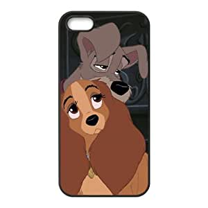 iPhone 5 5s Cell Phone Case Covers Black Lady and the Tramp II Scamp's Adventure Character Annette Phone cover U8473410