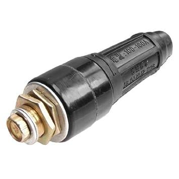 Negro Conjunto de cable DKJ-16 Soldadura Conector adaptador 100-160A: Amazon.es: Bricolaje y herramientas