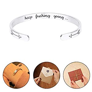 I CAN FEELMEM Inspiration Gift I CAN and I Will Quote Bible Verse Bracelets Encouragement Jewelry Gift for Women Girls