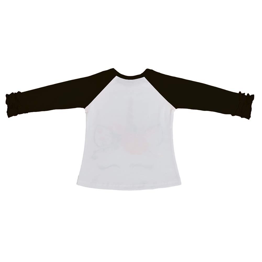 93fcda7d9 Amazon.com: Girls Icing Ruffle T-Shirt Christmas Halloween Long Sleeve  Raglan Baseball Blank Top Kids Baby Birthday Boutique Tee: Clothing