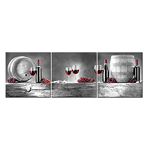 Black and white canvas pictures with a pop of color amazon com