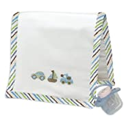 Stephan Baby Infant Boy Going Places Burp Pad and Pacifier Gift Set