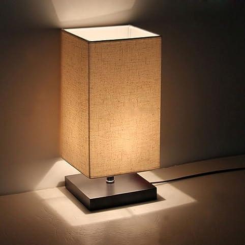 Saint mossi minimalist novelty romantic wood table lamp with saint mossireg minimalist novelty romantic wood table lamp with fabric shade for bedroom bedside desk mozeypictures Gallery