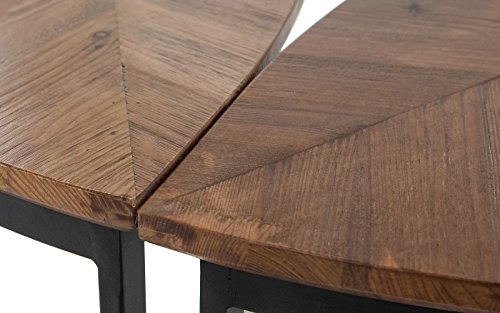 3 Piece Modern MultiPurpose Modular Wooden Coffee Table with Leaf