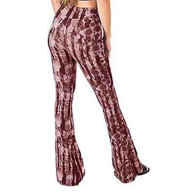 Vickyleb Yoga Pants for Women,Women's Comfy Casual Pajama Pants Floral Print Drawstring Palazzo Lounge Pants Wide Leg: Clothing