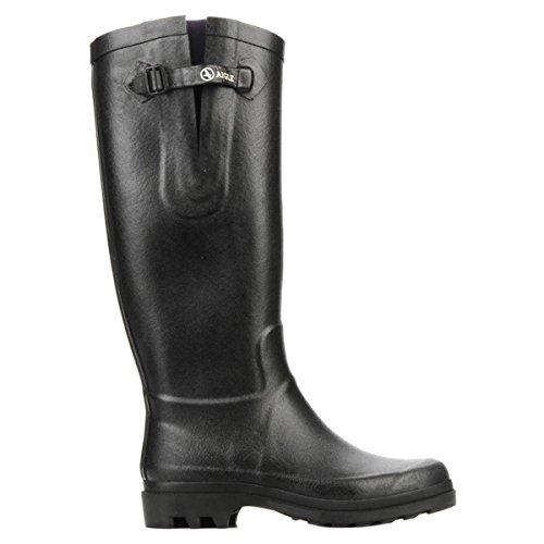 Aigle Rain Boots (Aigle Womens Aiglentine Black Rubber Boots EU 40)