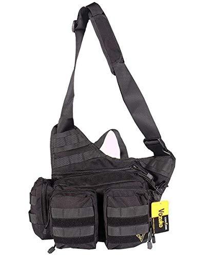 (VOZUKO Tactical Sling Bag-Military Multifunctional Rover Assault Condor Shoulder Molle Sling Pack for Fishing Outdoor Bag)